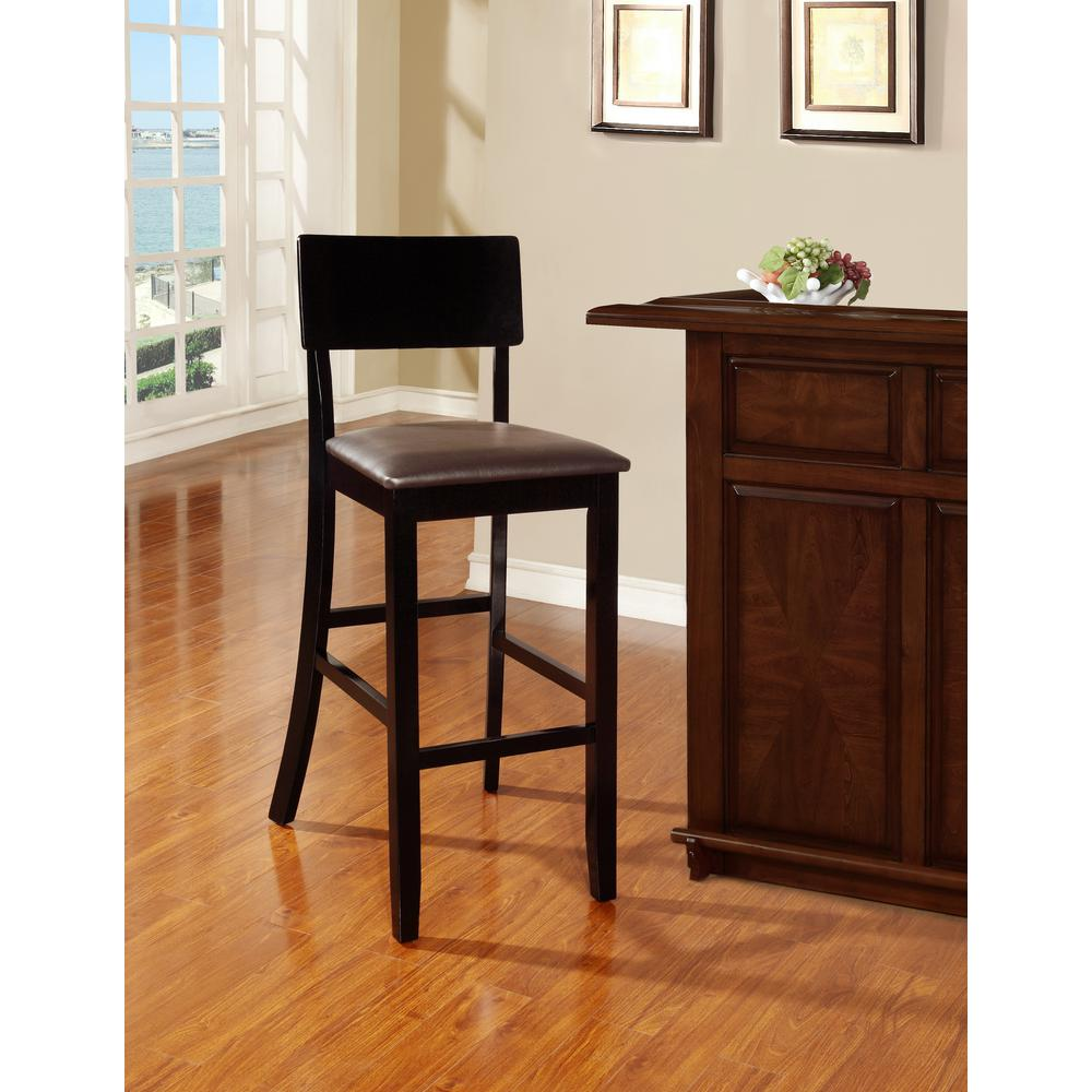 Linon Home Decor Torino Contemporary Bar Stool-01855BLK-01-KD-U ...