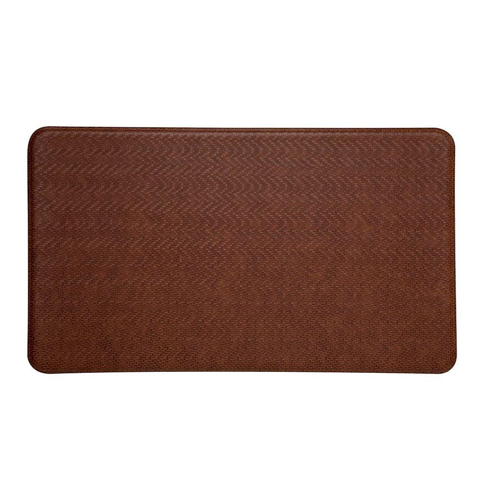 IMPRINT Comfort Mat Cobblestone Toffee Brown 26 in. x 48 in. Anti Fatigue Comfort Mat