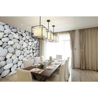 118 in. x 98 in. Pebbles Wall Mural