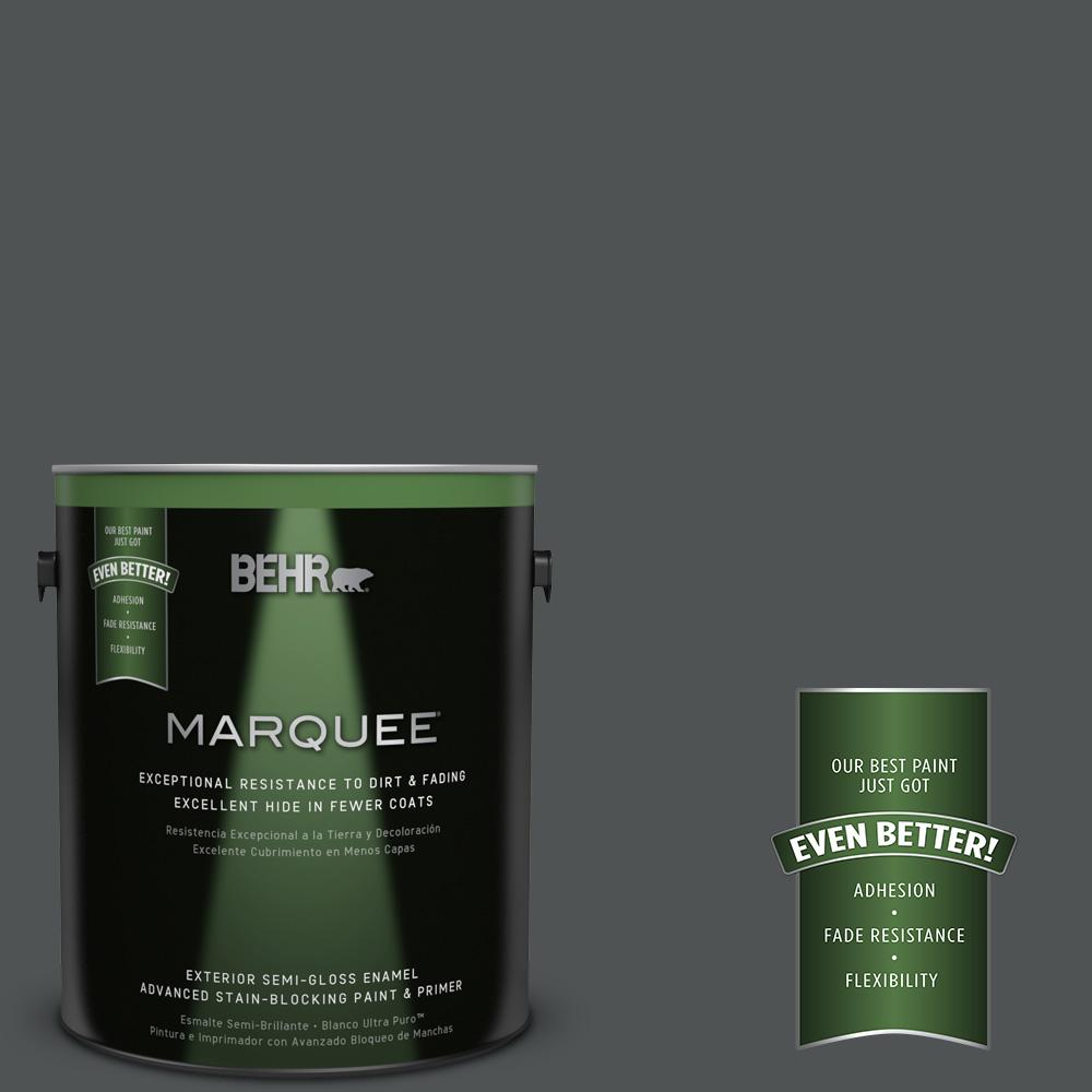 1 gal. #PPU25-01 Carbon Copy Semi-Gloss Enamel Exterior Paint