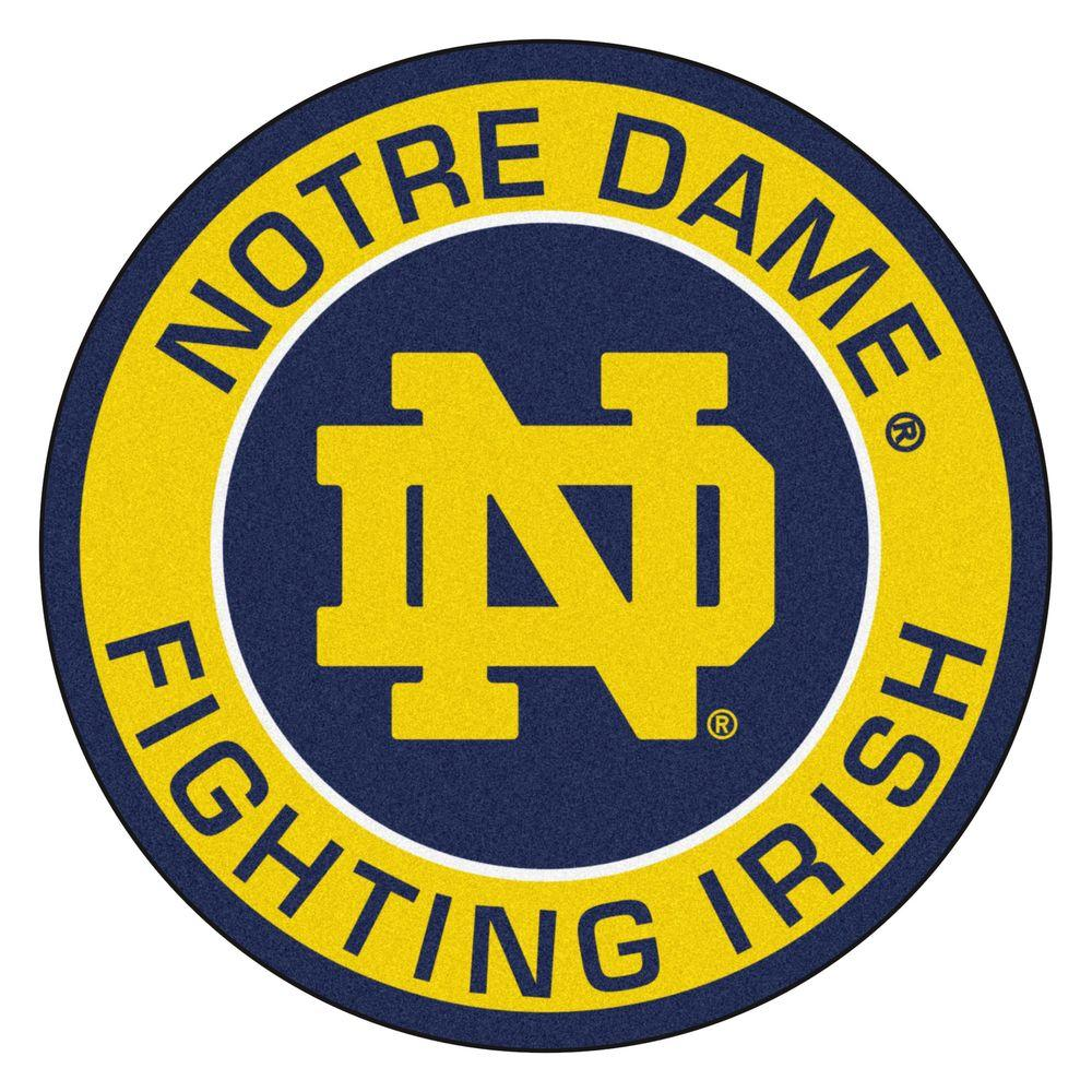 Fanmats Ncaa Notre Dame Gold 2 Ft 3 In X 2 Ft 3 In