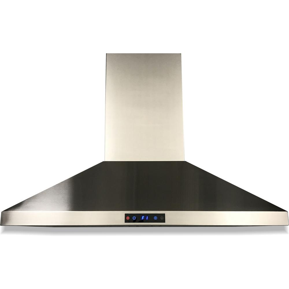 Cavaliere 36 In Ducted Wall Mounted Range Hood In