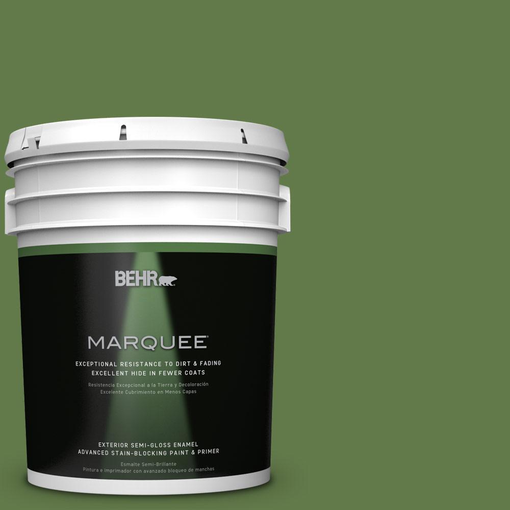 BEHR MARQUEE 5-gal. #M370-7 Mown Grass Semi-Gloss Enamel Exterior Paint