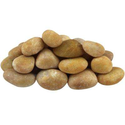 0.25 cu. ft. 0.5 in. to 1.5 in. 20 lbs. Small Golden Sapphire Pebbles