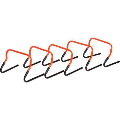 Adjustable Speed Training Hurdles in Orange (5-Set)