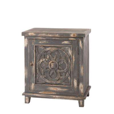 Havana Dark Graywash Storage Cabinet