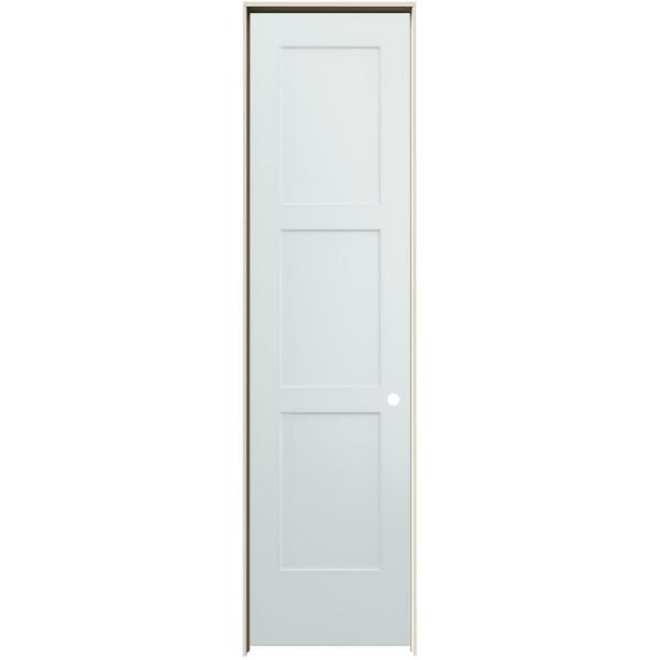 24 in. x 96 in. Birkdale Light Gray Paint Left-Hand Smooth Solid Core Molded Composite Single Prehung Interior Door