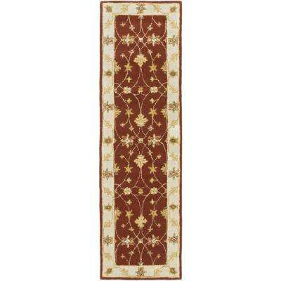 Middleton Hattie Burgundy 2 ft. x 8 ft. Indoor Runner Rug
