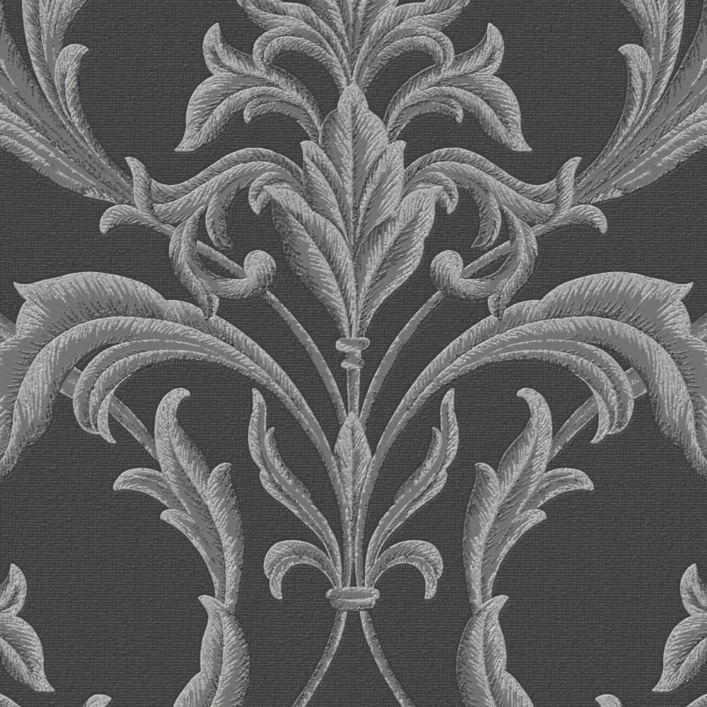 graham brown black and gray oxford wallpaper 20 853 the home depot. Black Bedroom Furniture Sets. Home Design Ideas