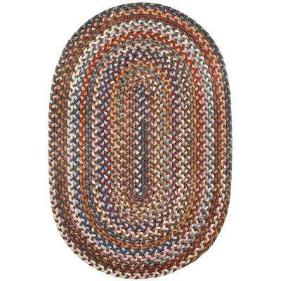 Annie Walnut 5 ft. x 8 ft. Oval Indoor Braided Area Rug