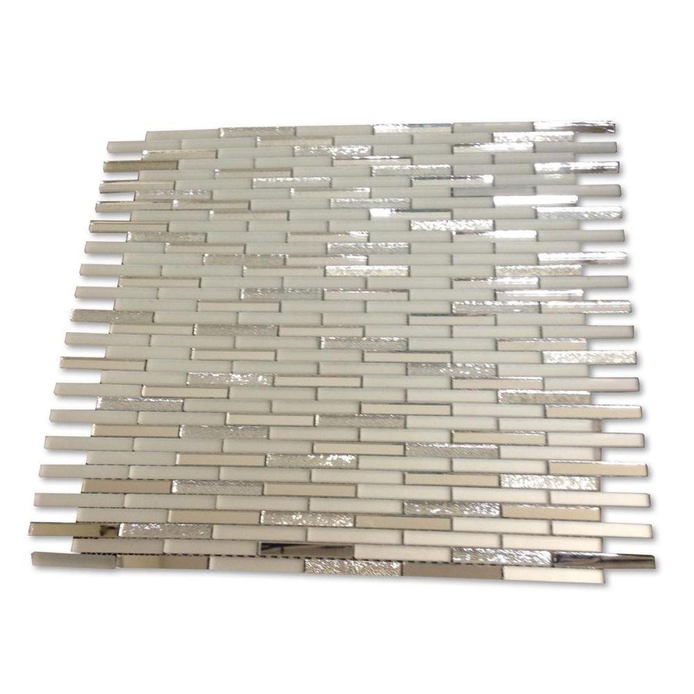 Specchio Metallic Shine Glass Mirror Tile - 3 in. x 6 in. Tile Sample