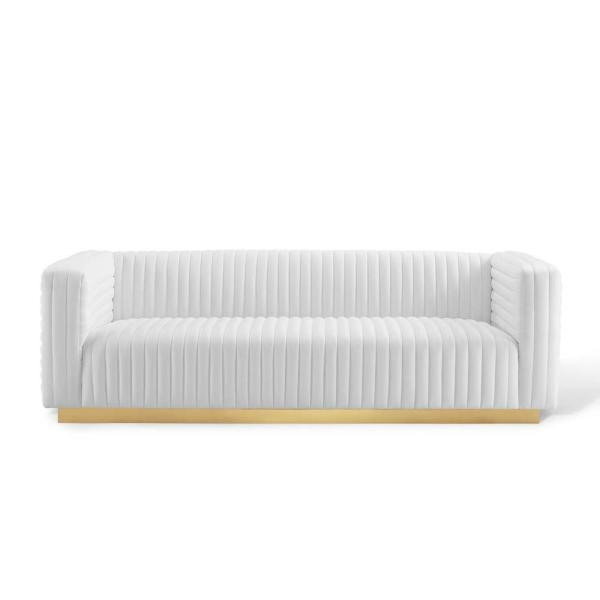 Modway Charisma Channel White Tufted