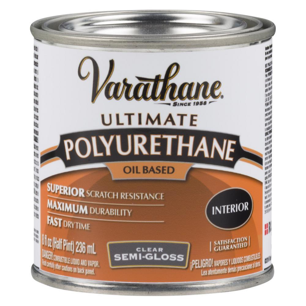 8 oz. Clear Semi-Gloss Oil-Based Interior Polyurethane (4-Pack)