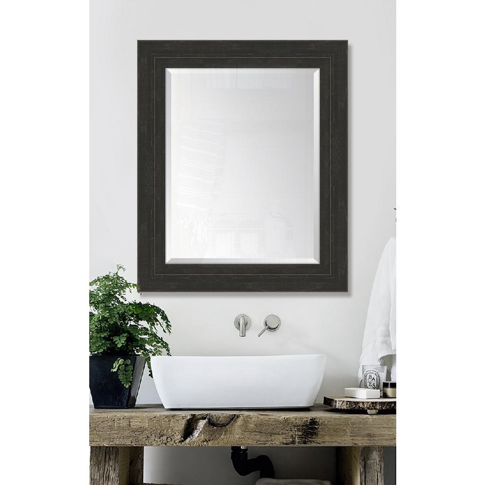 30 in. x 36 in. Framed Slate Black Large and Slate Black Mirror