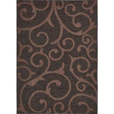 Outdoor Vine Chocolate Brown 7' 0 x 10' 0 Area Rug