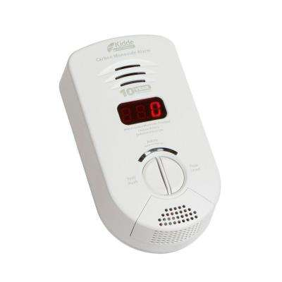 10-Year Worry Free Plug-In Carbon Monoxide Detector with Battery Backup, Digital Display, and Voice Alarm