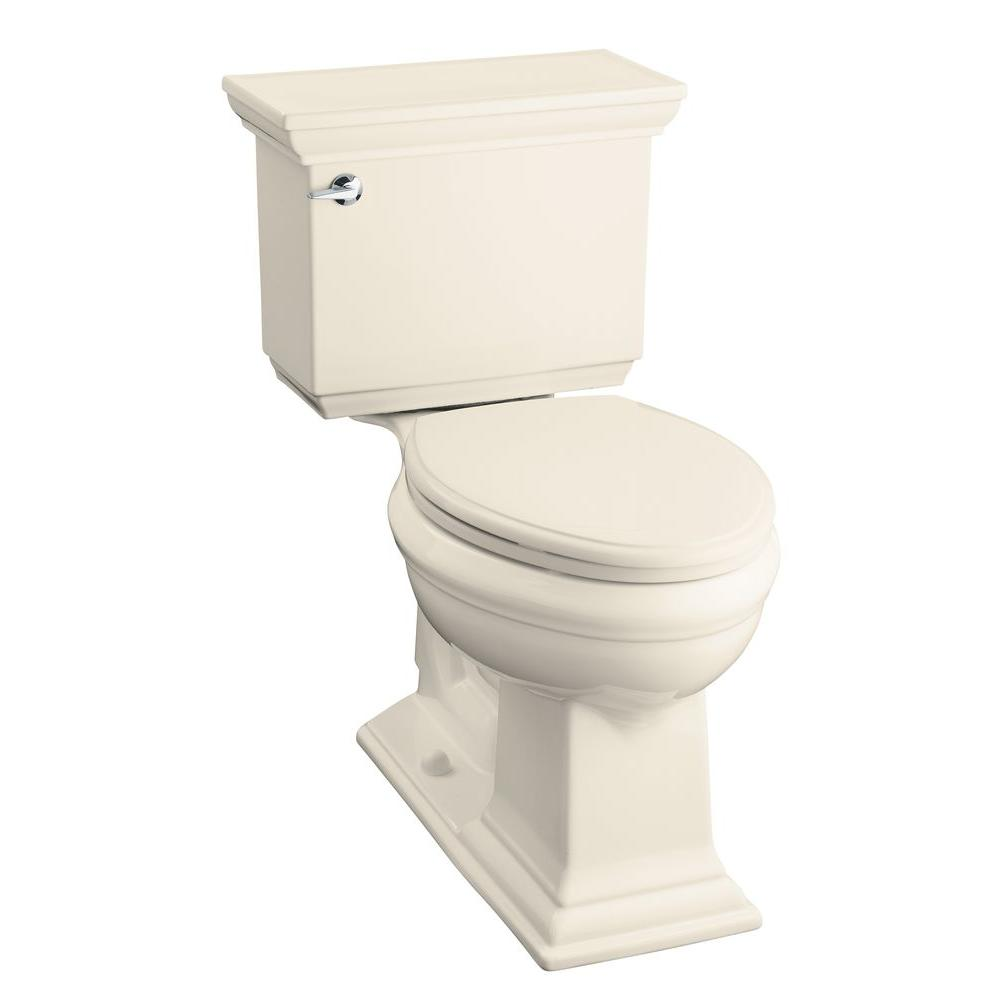 KOHLER Memoirs Classic Comfort Height 2-Piece 1.28 GPF Elongated Toilet in Almond-DISCONTINUED