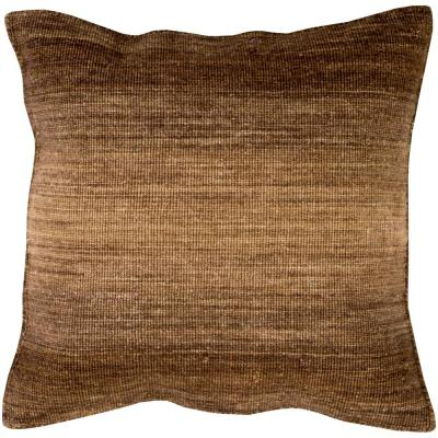 Stoneleigh Brown Striped Polyester 22 in. x 22 in. Throw Pillow