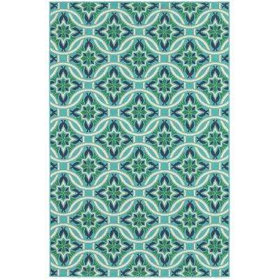 6 X 9 - Blue - Classic - Outdoor Rugs - Rugs - The Home Depot