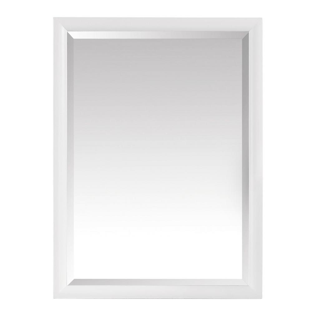 Avanity Emma 24 in. x 32 in. Framed Wall Mirror in White