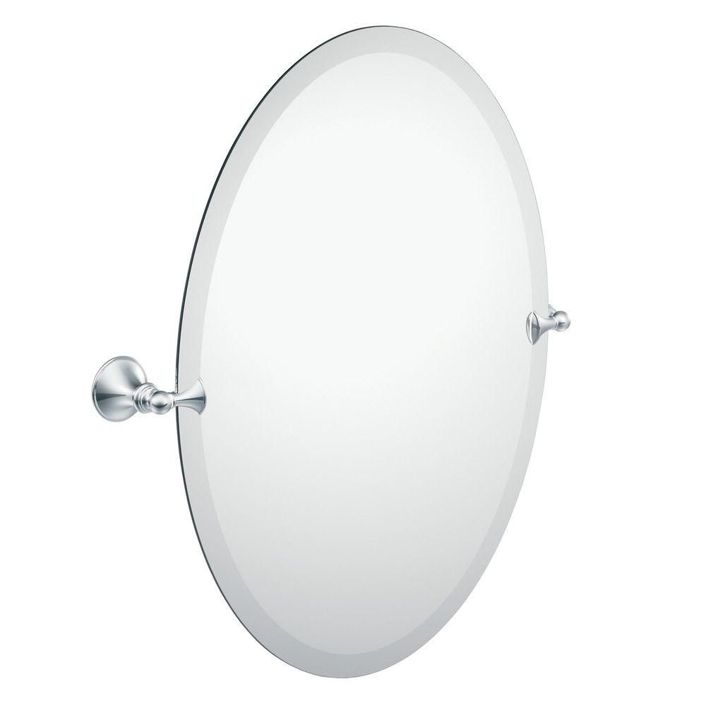 Moen Glenshire 26 in. x 22 in. Frameless Pivoting Wall Mirror in Chrome