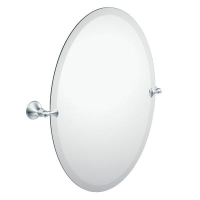 Glenshire 26 in. x 22 in. Frameless Pivoting Wall Mirror in Chrome