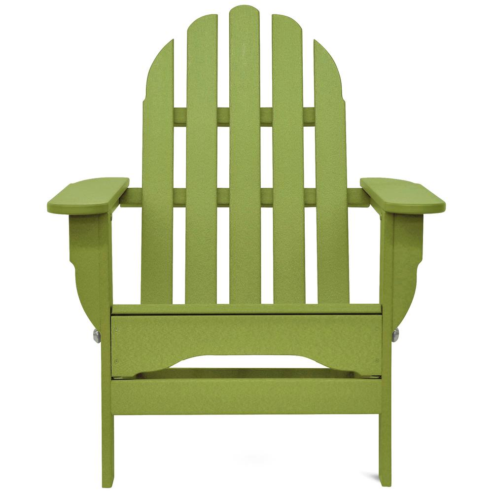 DUROGREEN Icon Lime Green Plastic Folding Adirondack Chair