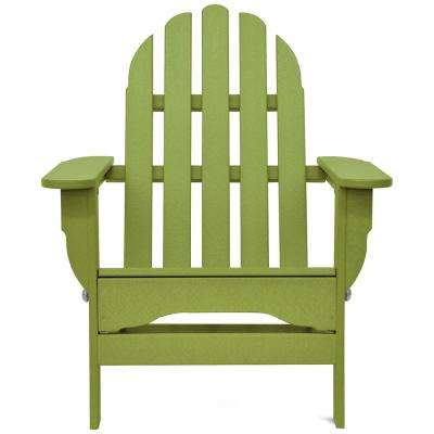 Icon Lime Green Plastic Folding Adirondack Chair