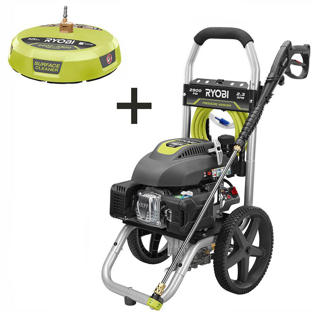 RYOBI 2,900 PSI 2.3 GPM Gas Pressure Washer with 15 in. Surface Cleaner