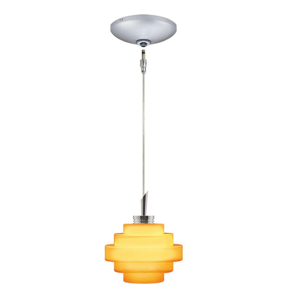JESCO Lighting Low Voltage Quick Adapt 4 in. x 101 in. Amber Pendant and Canopy Kit