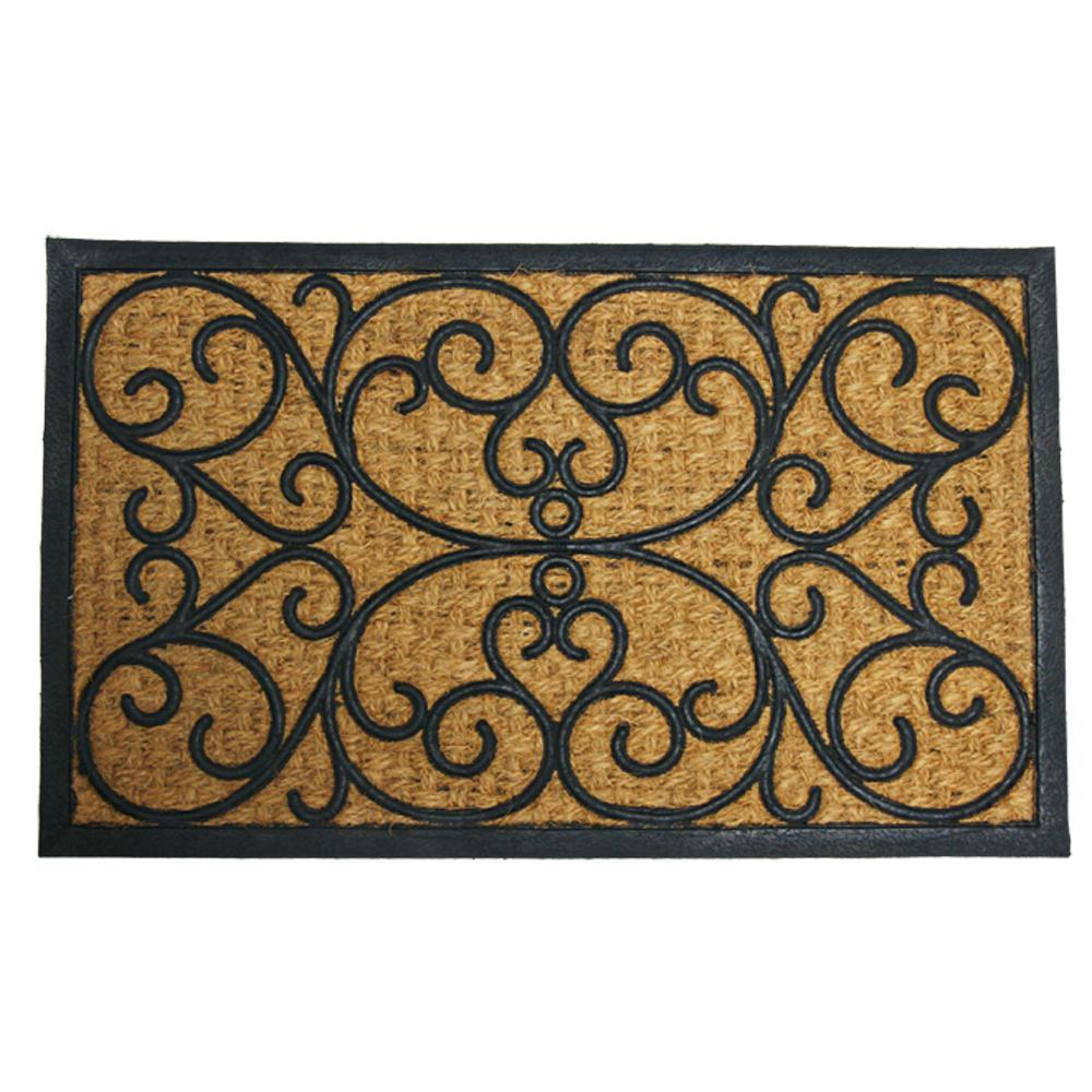 Rubber-Cal Cairo 18 in. x 30 in. Coir and Rubber Mat