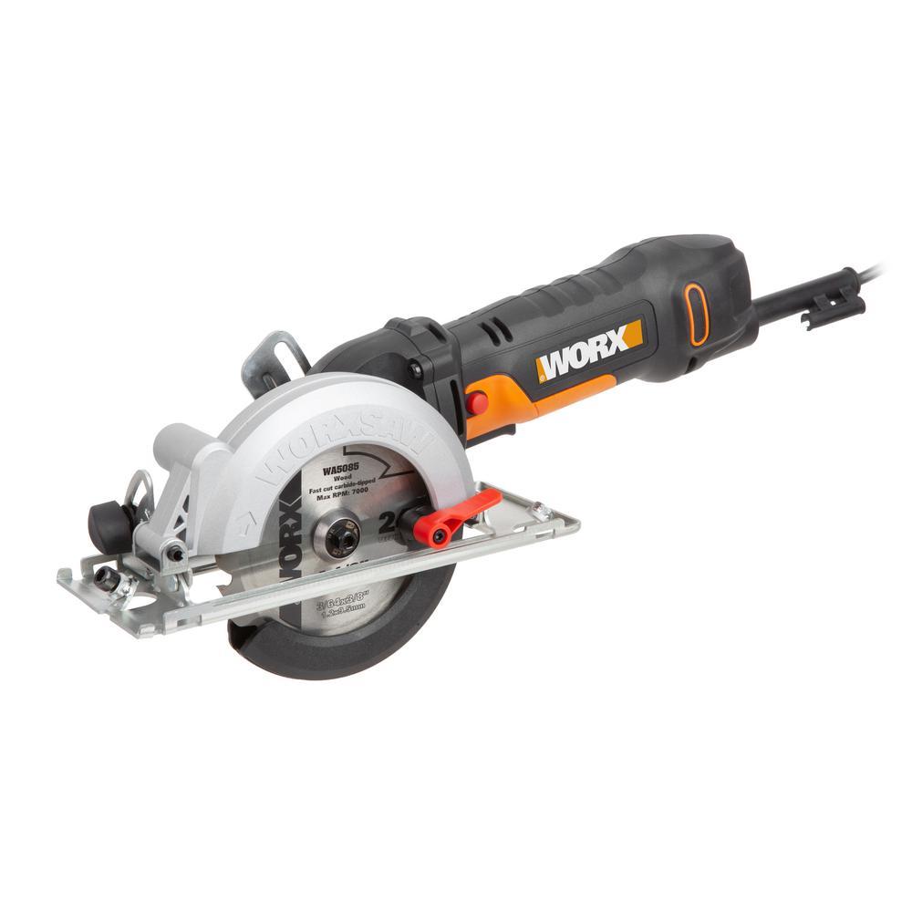 WorxSaw 4-1/2 in. 4.5 Amp Compact Circular Saw