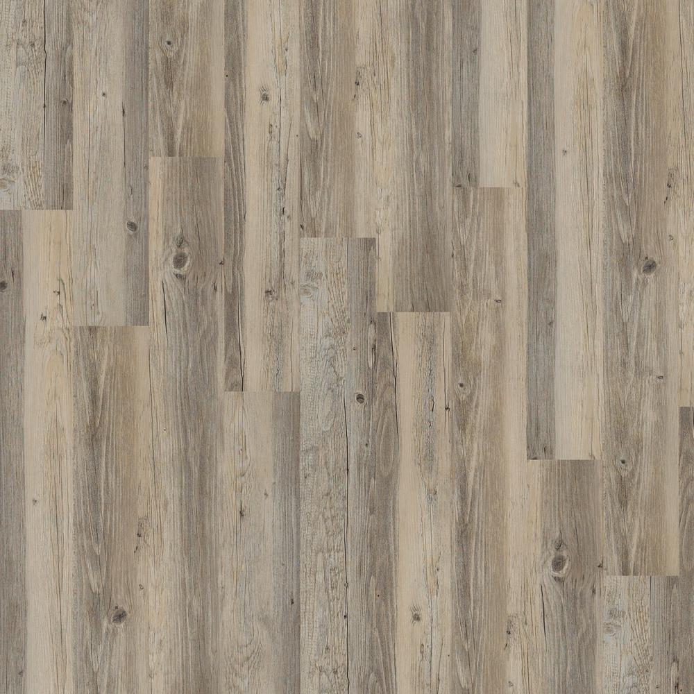 SHAW Shaw Inspiration 6 mil Overcast 6 in. x 48 in. Glue Down Vinyl Plank Flooring (53.93 sq. ft./case)