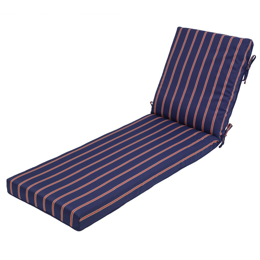 Midnight ruby stripe outdoor chaise lounge cushion 7417 for 23 w outdoor cushion for chaise