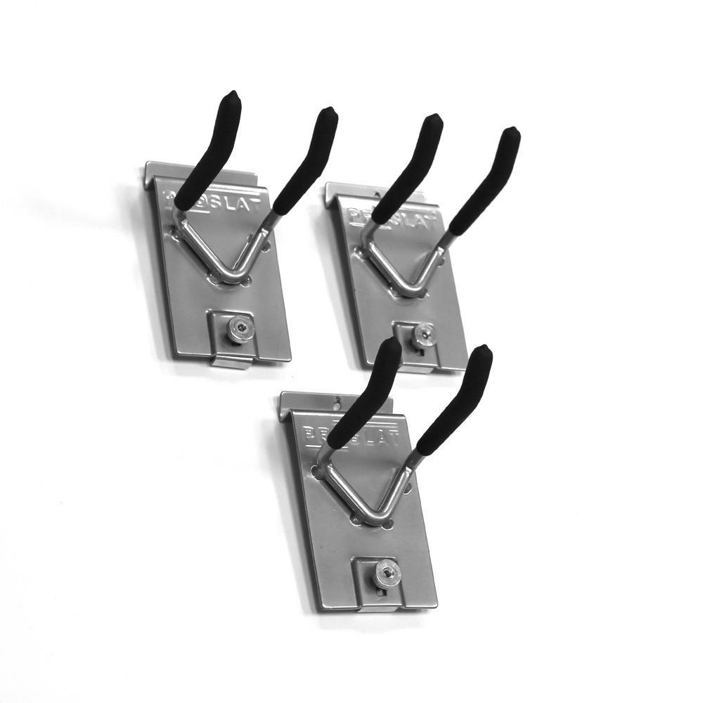 Slatwall 4 in. Double Hook (3-Pack)