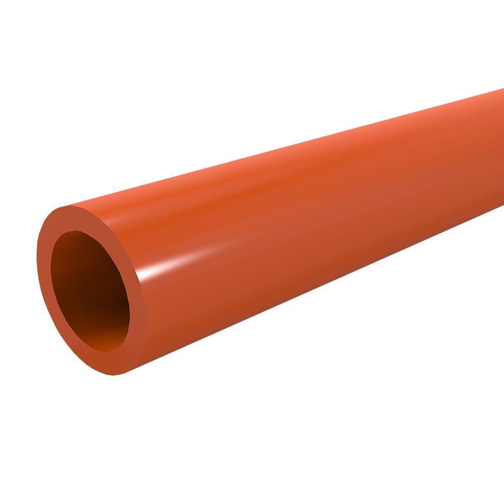 1/2 in. x 5 ft. Furniture Grade Sch. 40 PVC Pipe in Orange
