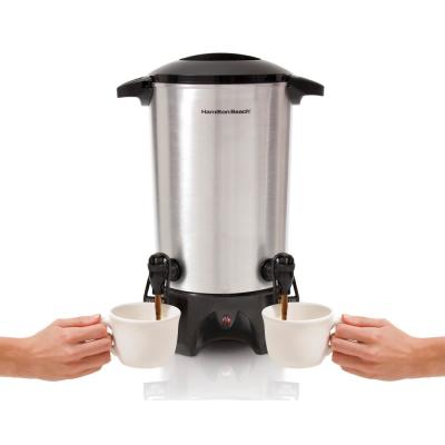 45-Cup Stainless Steel Coffee Urn with Dual Spout