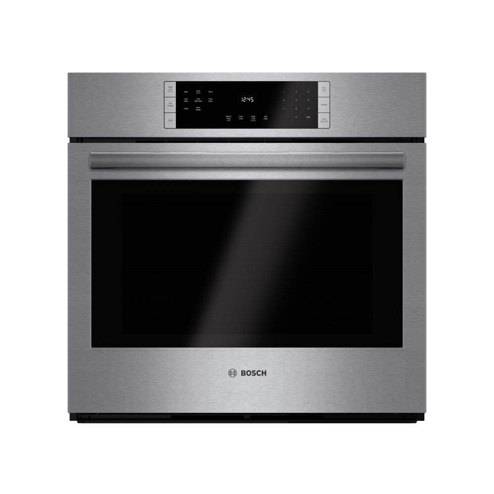 bosch 800 series 30 in single electric wall oven with european rh homedepot com Bosch Microwave Convection Oven LG Double Oven Gas Convection Slide in Range