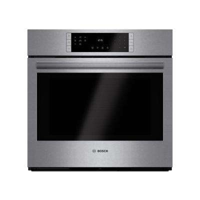 800 Series 30 in. Single Electric Wall Oven with European Convection in Stainless Steel Self Clean Touch Controls