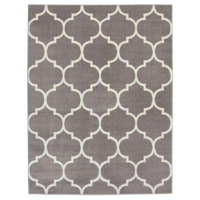 King Collection Moroccan Trellis Grey 8 ft. x 10 ft. Indoor Area Rug