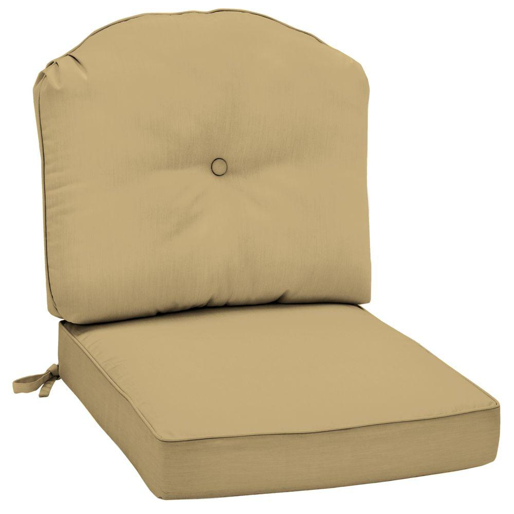 Arden Morgan Classic Canvas Wheat Outdoor Deep Seat Lounge Chair Cushion-DISCONTINUED