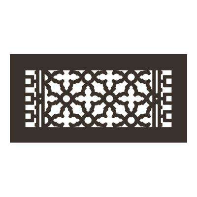 Scroll Series 14 in. x 6 in. Aluminum Grille, Oil Rubbed Bronze without Mounting Holes