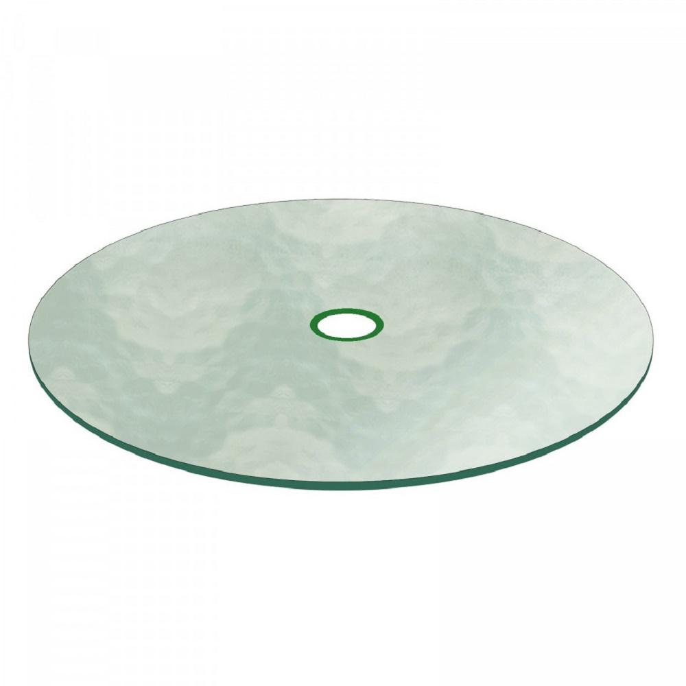 Fab Glass And Mirror 41 1 2 In Aquatex Round Patio Table Top 3 16 Thickness Tempered Flat Edge Polished With 4