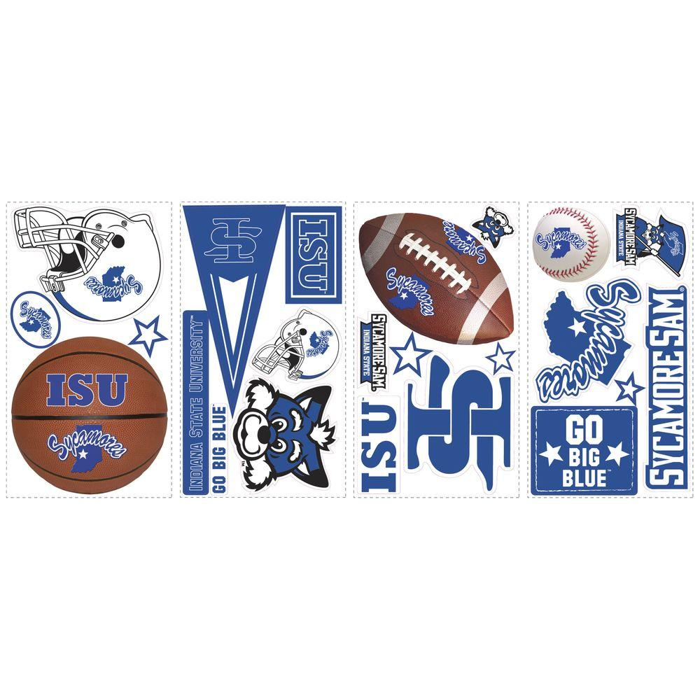 RoomMates 11.5 in. Indiana State Peel and Stick Wall Decals