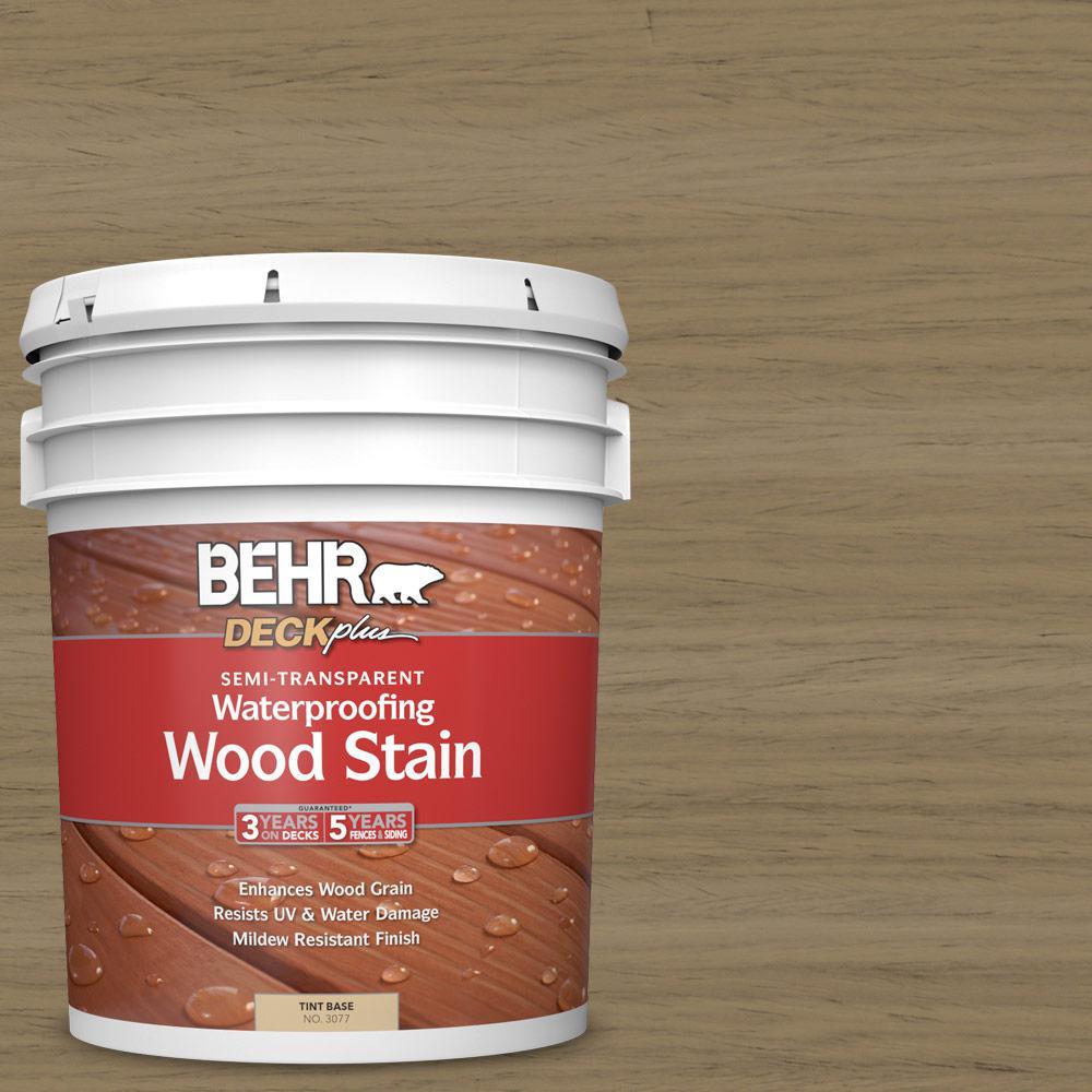 5 gal. #ST-121 Sandal Semi-Transparent Waterproofing Exterior Wood Stain