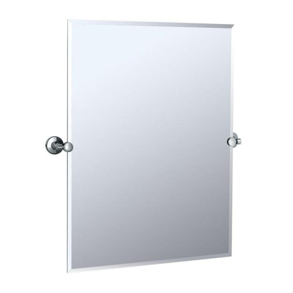 Max 32 in. L x 28 in. W Wall Mount Rectangular Mirror in Chrome