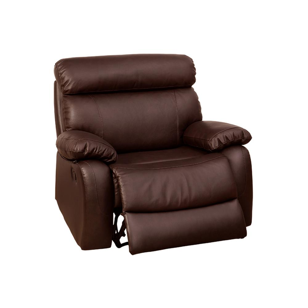 Brown Leather Match Recliner Chair Avena Chairs