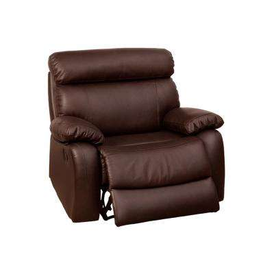 Avena Brown Top Grain Leather Match Recliner Chair