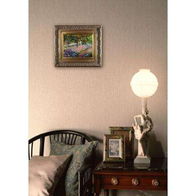 8 in. x 10 in. Artist's Garden at Giverny Hand-Painted Classic Artwork