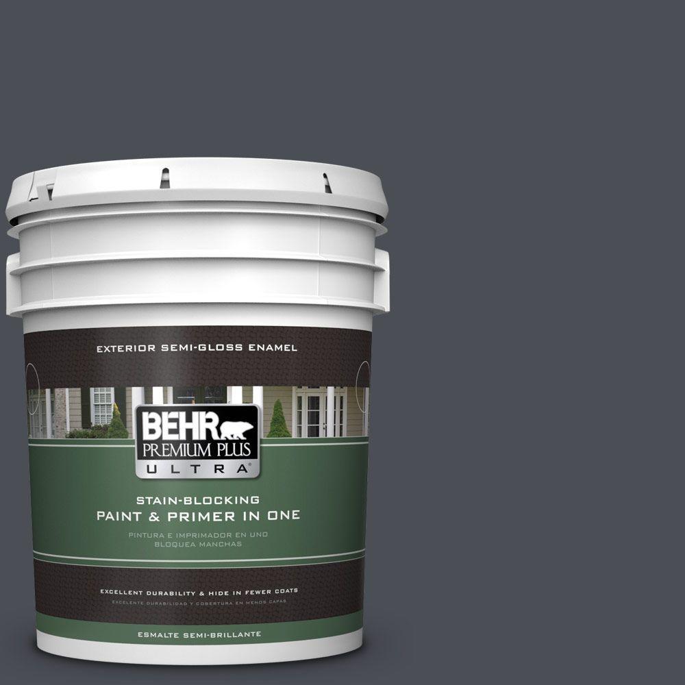 BEHR Premium Plus Ultra 5-gal. #PPU15-20 Poppy Seed Semi-Gloss Enamel Exterior Paint